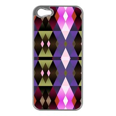 Geometric Abstract Background Art Apple Iphone 5 Case (silver) by Nexatart