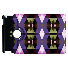 Geometric Abstract Background Art Apple Ipad 2 Flip 360 Case by Nexatart