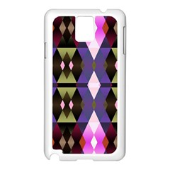 Geometric Abstract Background Art Samsung Galaxy Note 3 N9005 Case (white) by Nexatart