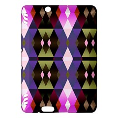 Geometric Abstract Background Art Kindle Fire Hdx Hardshell Case by Nexatart