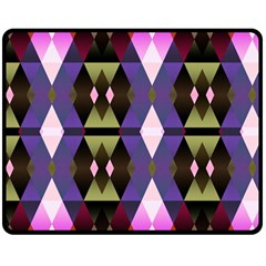 Geometric Abstract Background Art Double Sided Fleece Blanket (Medium)  by Nexatart