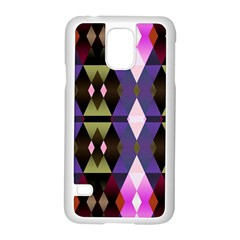 Geometric Abstract Background Art Samsung Galaxy S5 Case (white) by Nexatart