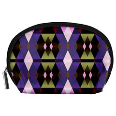 Geometric Abstract Background Art Accessory Pouches (large)  by Nexatart