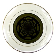 Dark Portal Fractal Esque Background Porcelain Plates