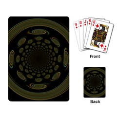 Dark Portal Fractal Esque Background Playing Card by Nexatart