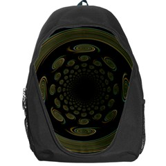 Dark Portal Fractal Esque Background Backpack Bag by Nexatart