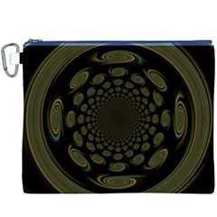 Dark Portal Fractal Esque Background Canvas Cosmetic Bag (xxxl) by Nexatart
