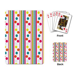 Stripes And Polka Dots Colorful Pattern Wallpaper Background Playing Card by Nexatart