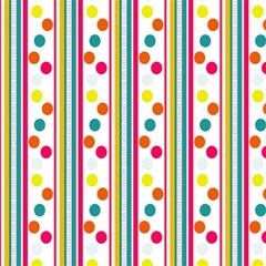Stripes And Polka Dots Colorful Pattern Wallpaper Background Magic Photo Cubes by Nexatart