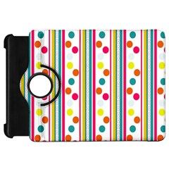 Stripes And Polka Dots Colorful Pattern Wallpaper Background Kindle Fire Hd 7  by Nexatart