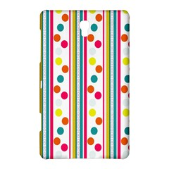 Stripes And Polka Dots Colorful Pattern Wallpaper Background Samsung Galaxy Tab S (8 4 ) Hardshell Case  by Nexatart