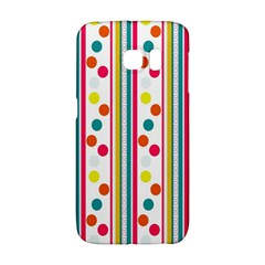 Stripes And Polka Dots Colorful Pattern Wallpaper Background Galaxy S6 Edge by Nexatart