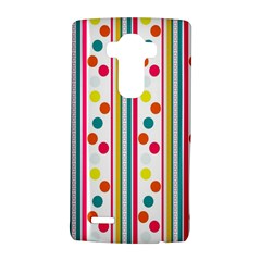 Stripes And Polka Dots Colorful Pattern Wallpaper Background Lg G4 Hardshell Case by Nexatart