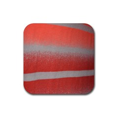 Orange Stripes Colorful Background Textile Cotton Cloth Pattern Stripes Colorful Orange Neo Rubber Square Coaster (4 Pack)  by Nexatart