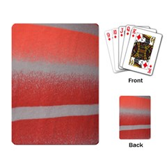 Orange Stripes Colorful Background Textile Cotton Cloth Pattern Stripes Colorful Orange Neo Playing Card by Nexatart