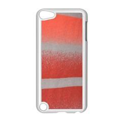 Orange Stripes Colorful Background Textile Cotton Cloth Pattern Stripes Colorful Orange Neo Apple Ipod Touch 5 Case (white) by Nexatart