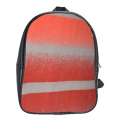 Orange Stripes Colorful Background Textile Cotton Cloth Pattern Stripes Colorful Orange Neo School Bags (xl)  by Nexatart