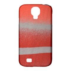 Orange Stripes Colorful Background Textile Cotton Cloth Pattern Stripes Colorful Orange Neo Samsung Galaxy S4 Classic Hardshell Case (pc+silicone) by Nexatart
