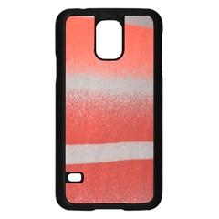 Orange Stripes Colorful Background Textile Cotton Cloth Pattern Stripes Colorful Orange Neo Samsung Galaxy S5 Case (black) by Nexatart
