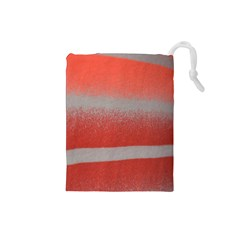 Orange Stripes Colorful Background Textile Cotton Cloth Pattern Stripes Colorful Orange Neo Drawstring Pouches (small)  by Nexatart