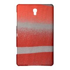 Orange Stripes Colorful Background Textile Cotton Cloth Pattern Stripes Colorful Orange Neo Samsung Galaxy Tab S (8 4 ) Hardshell Case  by Nexatart