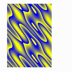 Blue Yellow Wave Abstract Background Large Garden Flag (two Sides) by Nexatart