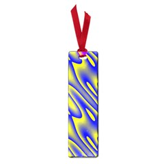 Blue Yellow Wave Abstract Background Small Book Marks by Nexatart
