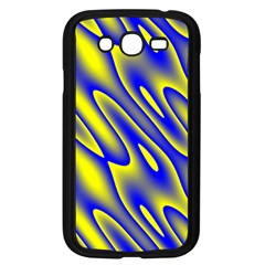 Blue Yellow Wave Abstract Background Samsung Galaxy Grand Duos I9082 Case (black) by Nexatart