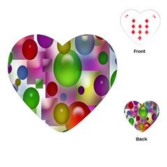Colored Bubbles Squares Background Playing Cards (heart)  by Nexatart