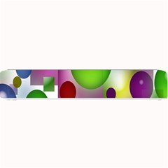 Colored Bubbles Squares Background Small Bar Mats by Nexatart