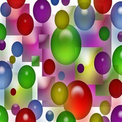 Colored Bubbles Squares Background Magic Photo Cubes by Nexatart