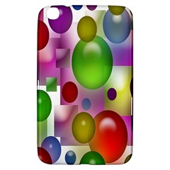 Colored Bubbles Squares Background Samsung Galaxy Tab 3 (8 ) T3100 Hardshell Case