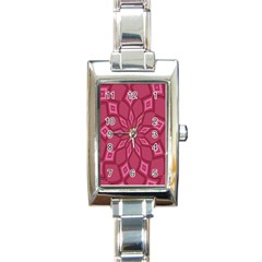Fusia Abstract Background Element Diamonds Rectangle Italian Charm Watch by Nexatart