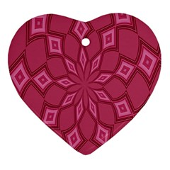 Fusia Abstract Background Element Diamonds Ornament (heart) by Nexatart