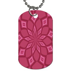 Fusia Abstract Background Element Diamonds Dog Tag (two Sides) by Nexatart