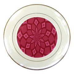 Fusia Abstract Background Element Diamonds Porcelain Plates by Nexatart