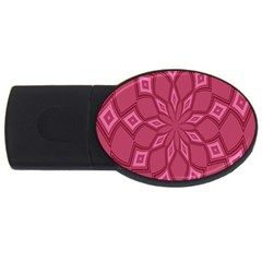 Fusia Abstract Background Element Diamonds Usb Flash Drive Oval (4 Gb) by Nexatart