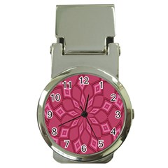 Fusia Abstract Background Element Diamonds Money Clip Watches by Nexatart