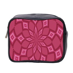 Fusia Abstract Background Element Diamonds Mini Toiletries Bag 2 Side