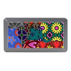 Digitally Created Abstract Patchwork Collage Pattern Memory Card Reader (Mini)