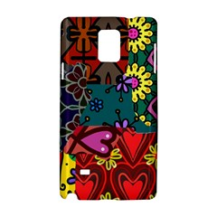 Digitally Created Abstract Patchwork Collage Pattern Samsung Galaxy Note 4 Hardshell Case by Nexatart