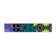 Digitally Created Abstract Patchwork Collage Pattern Flano Scarf (mini) by Nexatart