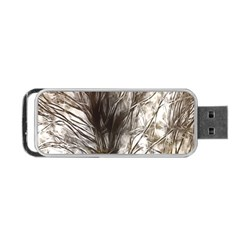 Tree Art Artistic Tree Abstract Background Portable Usb Flash (two Sides) by Nexatart