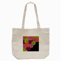 Floral Card Template Bright Colorful Dahlia Flowers Pattern Background Tote Bag (cream) by Nexatart