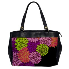 Floral Card Template Bright Colorful Dahlia Flowers Pattern Background Office Handbags by Nexatart