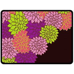 Floral Card Template Bright Colorful Dahlia Flowers Pattern Background Fleece Blanket (large)  by Nexatart