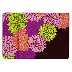 Floral Card Template Bright Colorful Dahlia Flowers Pattern Background Samsung Galaxy Tab 8 9  P7300 Flip Case by Nexatart