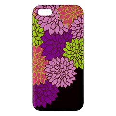 Floral Card Template Bright Colorful Dahlia Flowers Pattern Background Iphone 5s/ Se Premium Hardshell Case by Nexatart