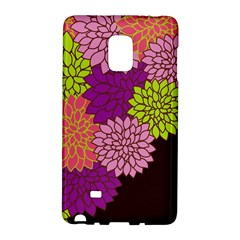 Floral Card Template Bright Colorful Dahlia Flowers Pattern Background Galaxy Note Edge by Nexatart