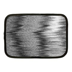 Rectangle Abstract Background Black And White In Rectangle Shape Netbook Case (medium)  by Nexatart